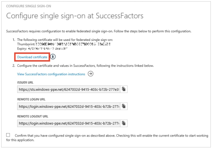 Azure Active Directory integration with SAP SuccessFactors - Lorenzo