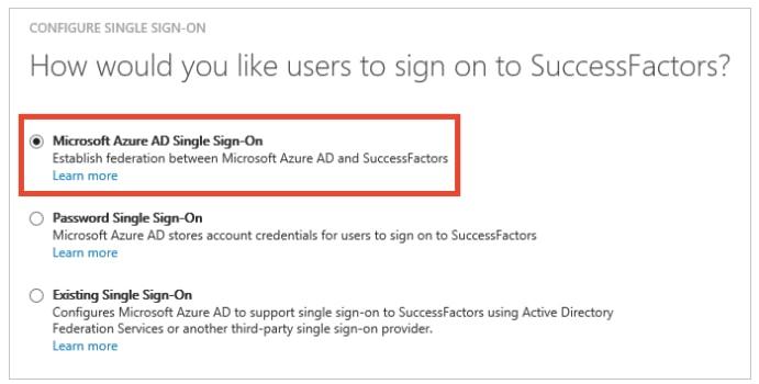 Azure Active Directory integration with SAP SuccessFactors